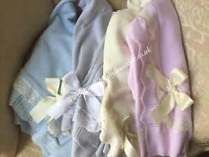 Spanish Baby Blanket shawl knit baby BNWT romany