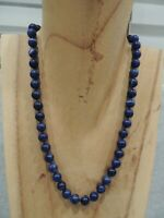 20 inch knotted lapis lazuli  necklace vintage estate piece ming hawaii