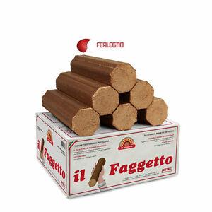 CONFEZIONE 10 KG TRONCHETTI DI FAGGIO MADE IN ITALY-SEGATURA PRESSATA PRONTO FUOCO PER ACCENSIONE STUFE E CAMINI