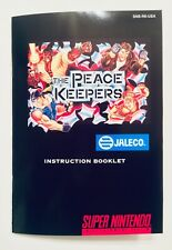Peace Keepers - SNES Super Nintendo - Reproduction Manual Instruction Booklet