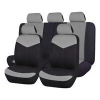 Car Seat Covers set Universal gray charcoal rear seat split 40/60 50/50 60/40