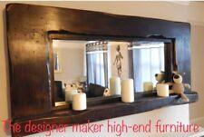 Mirror Large Wooden Rustic Dark Oak Jacobean Farmhouse Country Mirror Bespoke