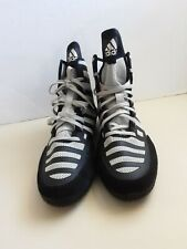 Adidas Adizero Varner 2 Wrestling Shoes Black & White FW1013 Men Size14.5 NEW