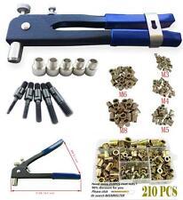 Hand Rivet Tool Threaded Riv Nut Riveter Gun Heavy Duty Ergonomic Metal Mandrel