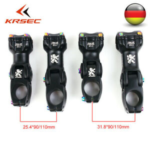 KRSEC MTB Fahrrad Vorbau AL 25.4/31.8mm Lenkers Einstellbarer Winkel 90/110mm DE