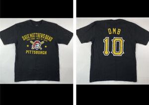 2010 Dave Matthews Band PNC Park Pittsburgh Concert Black T-Shirt, Sz Medium