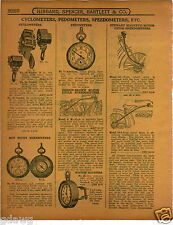1915 PAPER AD Veeder Motorcycle Cyclometer Corbin Brown Motorcycle Speedometer