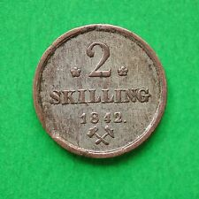 More details for 1842 norway silver 2 skilling sno44978