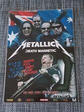 METALLICA - 2010 Australia Tour SIGNED AUTOGRAPHED Promo Poster - James Hetfield