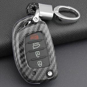 Fit Hyundai Sonata Tucson Carbon Fiber Remote Key Fob Hard ABS Case Cover