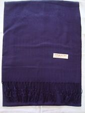 Pashmina Winter Scarf Scarves Silk Solid Navy Blue Shawl Wrap Range Soft New