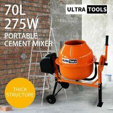 Ultratools 70L Portable Cement Concrete Mixer Electric Construction Sand Gravel