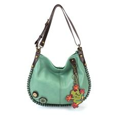 New Chala CONVERTIBLE Hobo Large Tote Bag FROG  Vegan Leather Teal Green gift