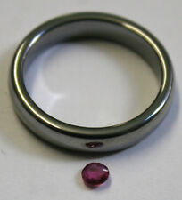 NATURAL 3MM RUBY GEMSTONE 0.25CT LOOSE ROUND CUT FACETED GEM MINERAL RU48F