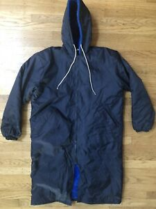 PURCELLS Hooded Swim Parka Navy Blue w/ Blue Fur Lined Adult Small