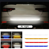 Auto Reflective Warning Strip Tape Bumper Truck Safety Reflector Stickers Decals