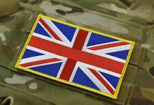"Large UK Flag Patch 5"" x 3"" SAS SBS SRR SFSG USKSF Yellow Border VELCRO®"