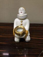 Antique Art Deco Pierrot Porcelain Oil Warmer