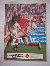 Orig.PRG   1.Bundesliga   1986/87   FC BAYERN MÜNCHEN - 1.FC NÜRNBERG  !  SELTEN