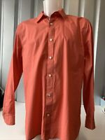 Gap Men's Long Sleeve Shirt L Colour: Coral/ Salmon Pink