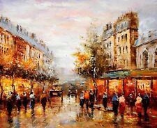 Modern Art - Paris Walk In The Summer 50x60 cm Oil Painting