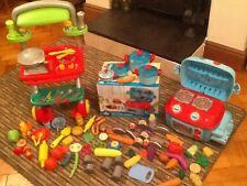 ELC mini sizzlin kitchen and plastic bbq set