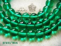 VINTAGE ART DECO Emerald Green  POOLS OF LIGHT GLASS CRYSTAL BEADS NECKLACE