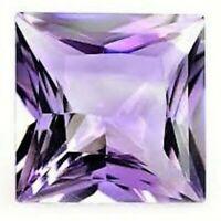 AMETHYST GEM PRINCESS CUT PURPLE BRAZIL GENUINE GEMSTONE NATURAL SQUARE NICE 5mm