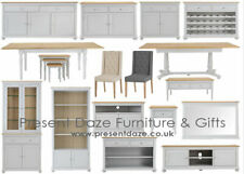Manhattan Soft Grey Living and Dining Range with Oak Tops - Pre-assembled