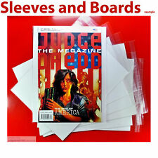 Judge Dredd Megazine comic Bags and Boards (fits A4) Resealable/Tape Size5 x 10