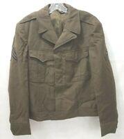WWII Vintage US Army Wool Jacket Field Wool OD - Mens Size 40R Green M-1943