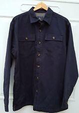 NWT G.H. Bass $110 Lined Blue Long-Sleeve Work Shirt Jacket Men's Size 2XL