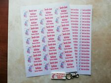 Personalised School Book / pencil stickers - ANY image & name