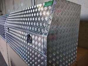 140x60x82cm Aluminium Toolbox Half Recessed Door Open Ute Trailer Truck tool box
