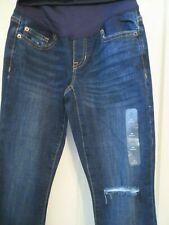 NWT GAP Maternity Full Panel Destructed Legging Skimmer Jeans Womens 25/0 R
