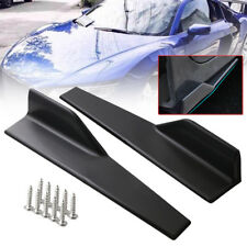 Pair Universal Side Skirt Rocker Splitters Winglet Wing Canard Diffuser Black