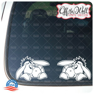 Eeyore -WHITE VINYL ONLY - Die-cut Vinyl Sticker for Cars/Trucks & More
