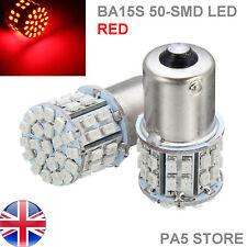2x BA15S 50 Bombillas LED Rojo-Luces Traseras De Frenos P21W 1156 Reino Unido