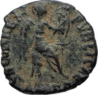 EUDOXIA Arcadius Wife 401AD Authentic Ancient Roman Coin VICTORY CHI-RHO i67286