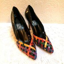 Vintage 1980's J Renee Rainbow Snakeskin Heels Size 9N