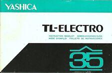 Yashica TL-Electro 35 (reflex version) Original Instruction Book
