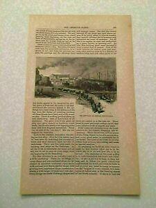 K103) Shipyard Chester Pennsylvania Framework Harper's Monthly 1878 Engraving