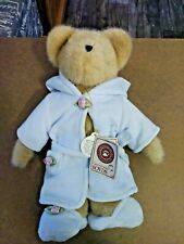"2002 Boyds Bears ROBERTA BEAR IN BLUE ROBE Jointed Stuffed Plush Toy 12"" NWT"
