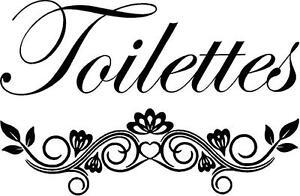 Toilettes Door vinyl Decal - guest bathroom, toilet  French