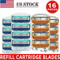 16Pcs 5Layer Shaver Cartridges for Gillette Fusion Proglide Razor Blade gift