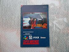 Notice Super nintendo / Snes manuel F1 pole position 2 PAL original Booklet *