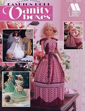 Fashion Doll Vanity Boxes ~ fits Barbie dolls, plastic canvas pattern booklet