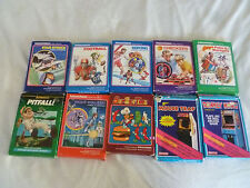 BOXED INTELLIVISION GAME LOT NIGHT STALKER BURGERTIME MOUSE TRAP DONKEY KONG >>