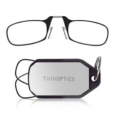 New Genuine ThinOptics KeyChain Black/Clear Frame