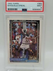 SHAQUILLE ONEAL 1992-93 TOPPS Rookie RC #362 - PSA 9 MINT ....901
